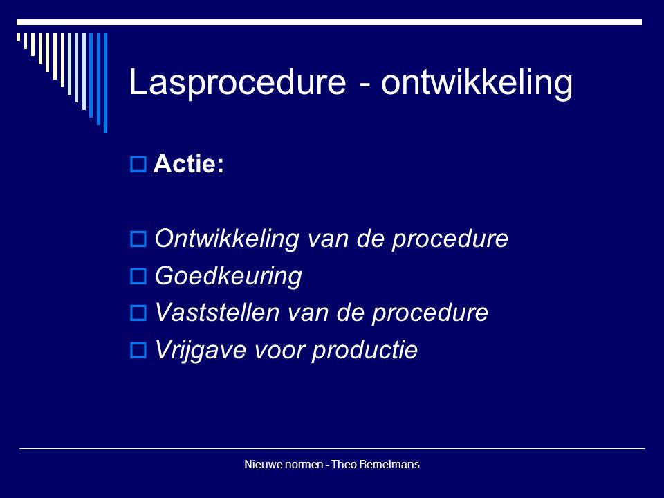 Lasprocedure - ontwikkeling