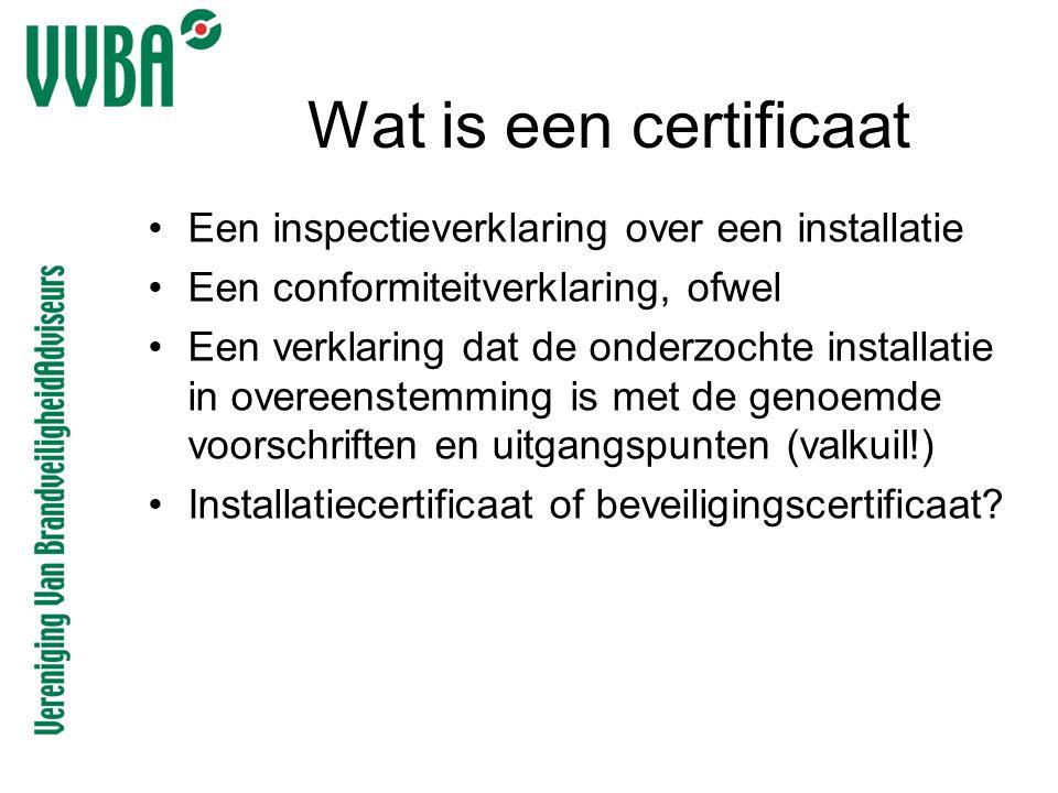 Wat is een certificaat Een inspectieverklaring over een installatie