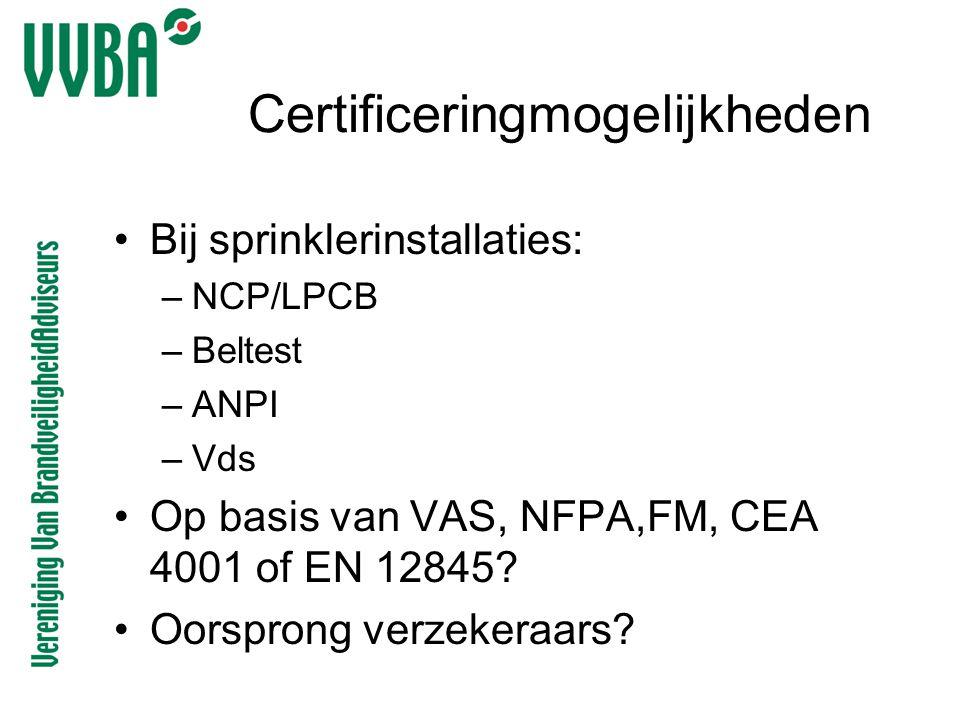 Certificeringmogelijkheden