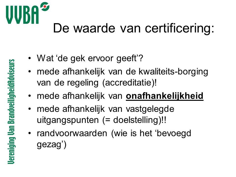 De waarde van certificering: