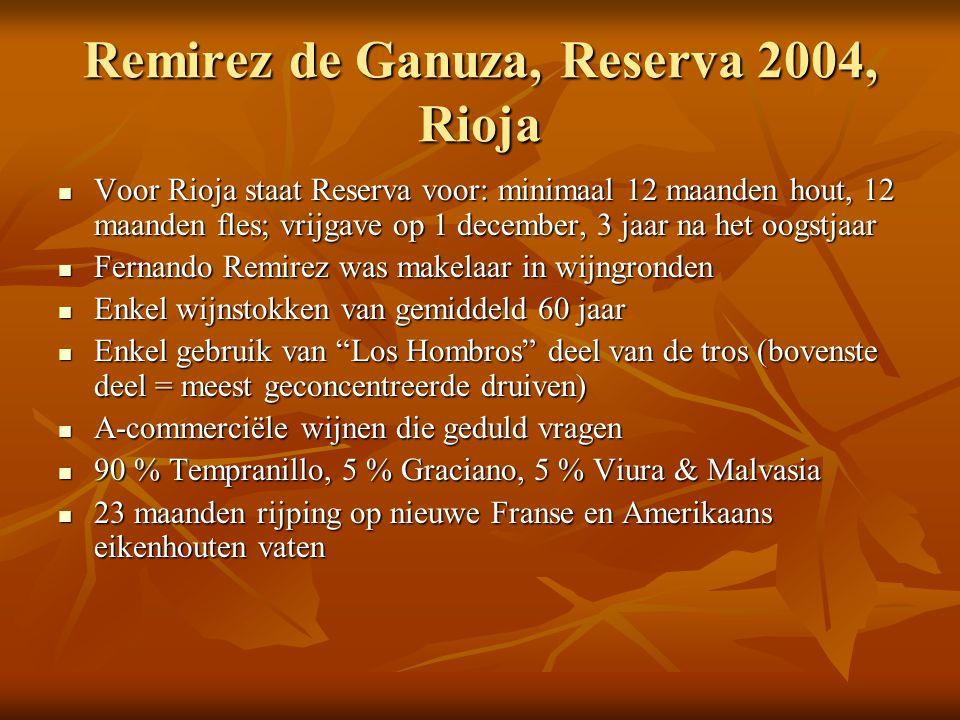 Remirez de Ganuza, Reserva 2004, Rioja