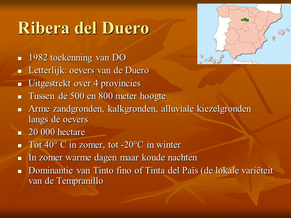 Ribera del Duero 1982 toekenning van DO