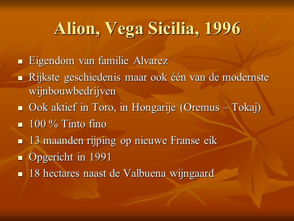 Alion, Vega Sicilia, 1996 Eigendom van familie Alvarez