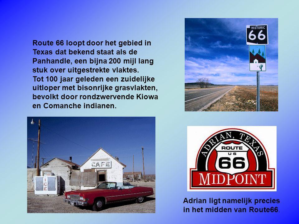 Route 66 loopt door het gebied in