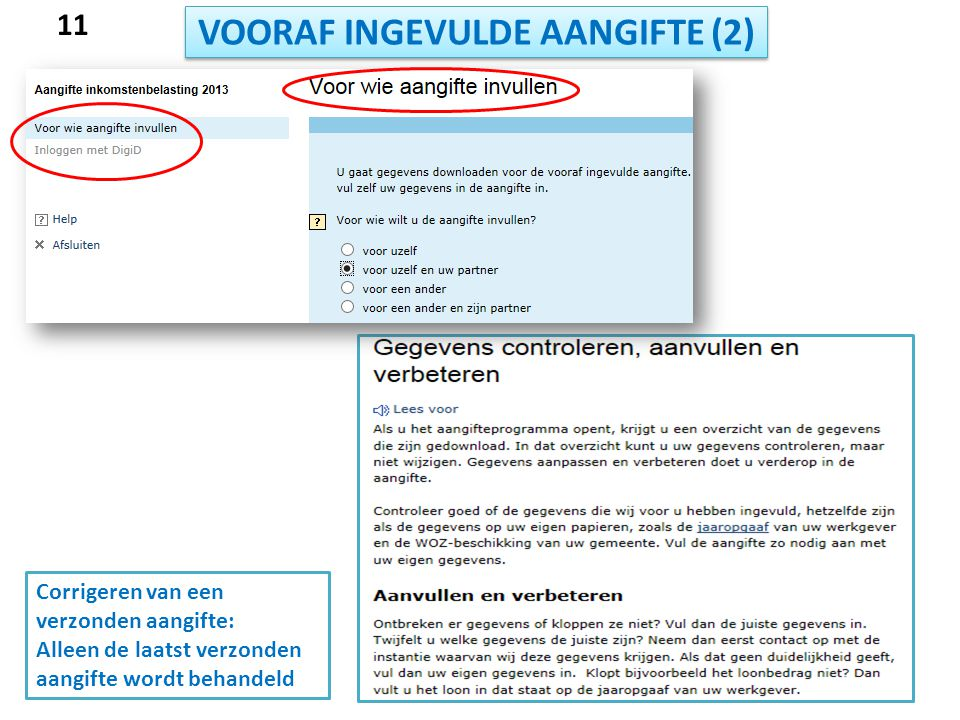 VOORAF INGEVULDE AANGIFTE (2)