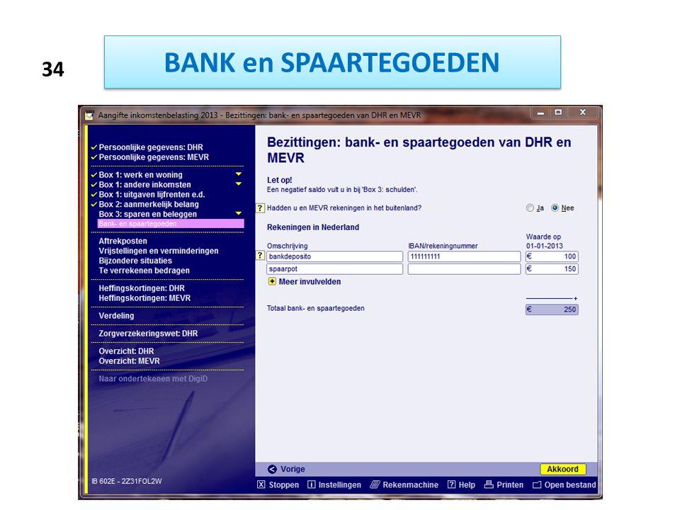BANK en SPAARTEGOEDEN 34
