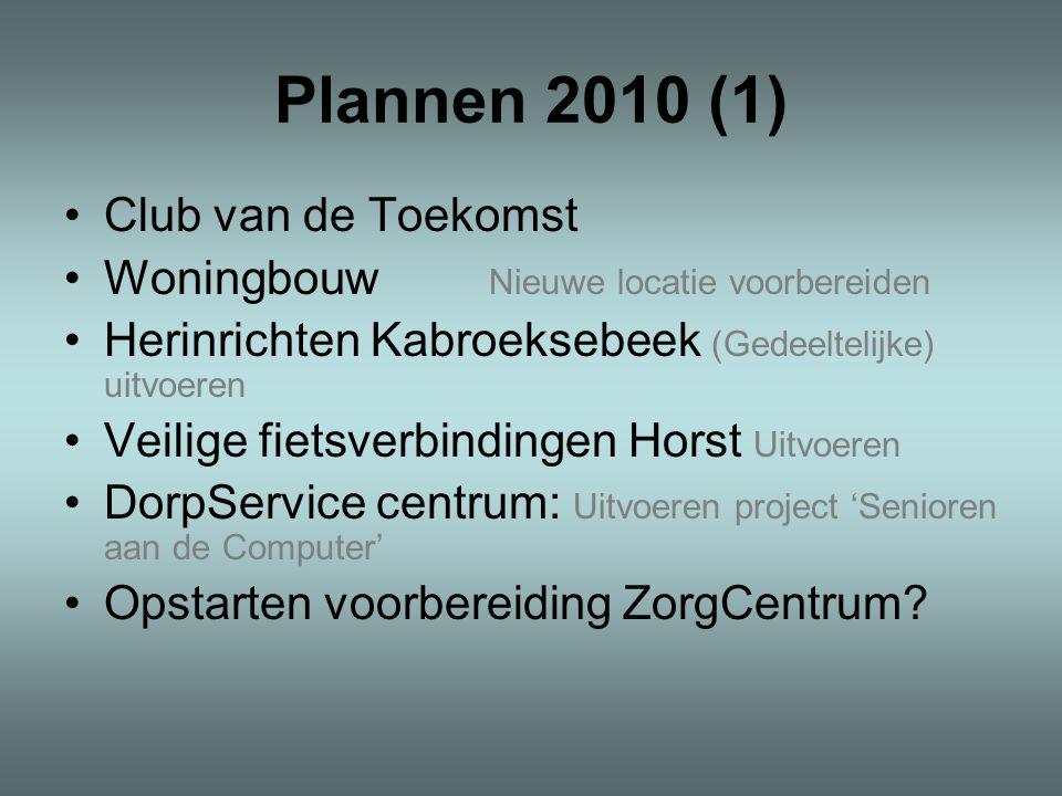 Plannen 2010 (1) Club van de Toekomst