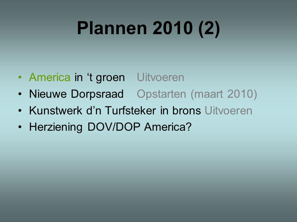 Plannen 2010 (2) America in 't groen Uitvoeren