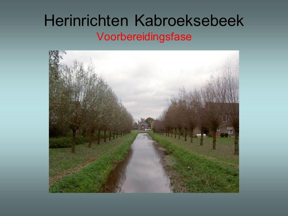Herinrichten Kabroeksebeek Voorbereidingsfase