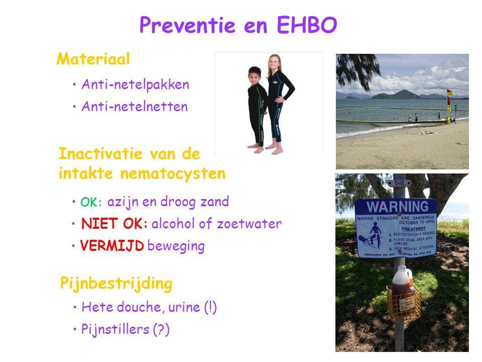 Preventie en EHBO Materiaal Inactivatie van de intakte nematocysten