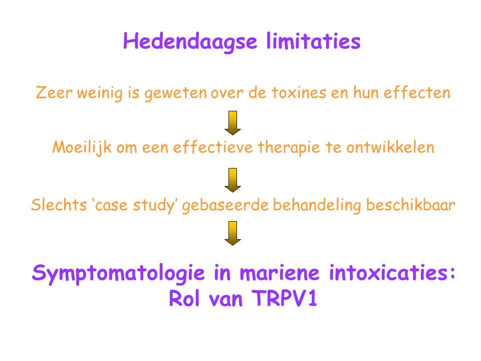 Symptomatologie in mariene intoxicaties: