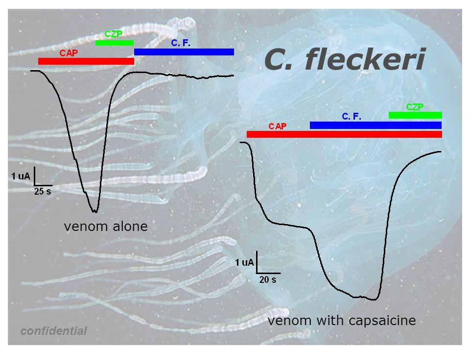 C. fleckeri venom alone venom with capsaicine confidential