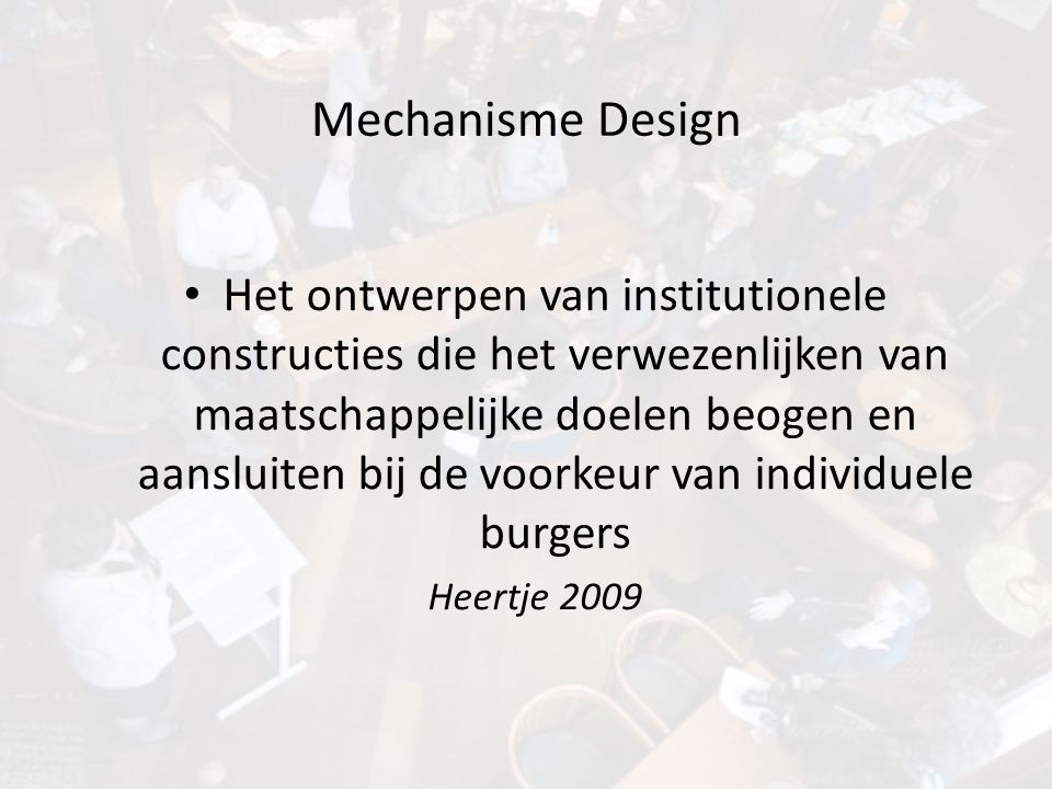 Mechanisme Design