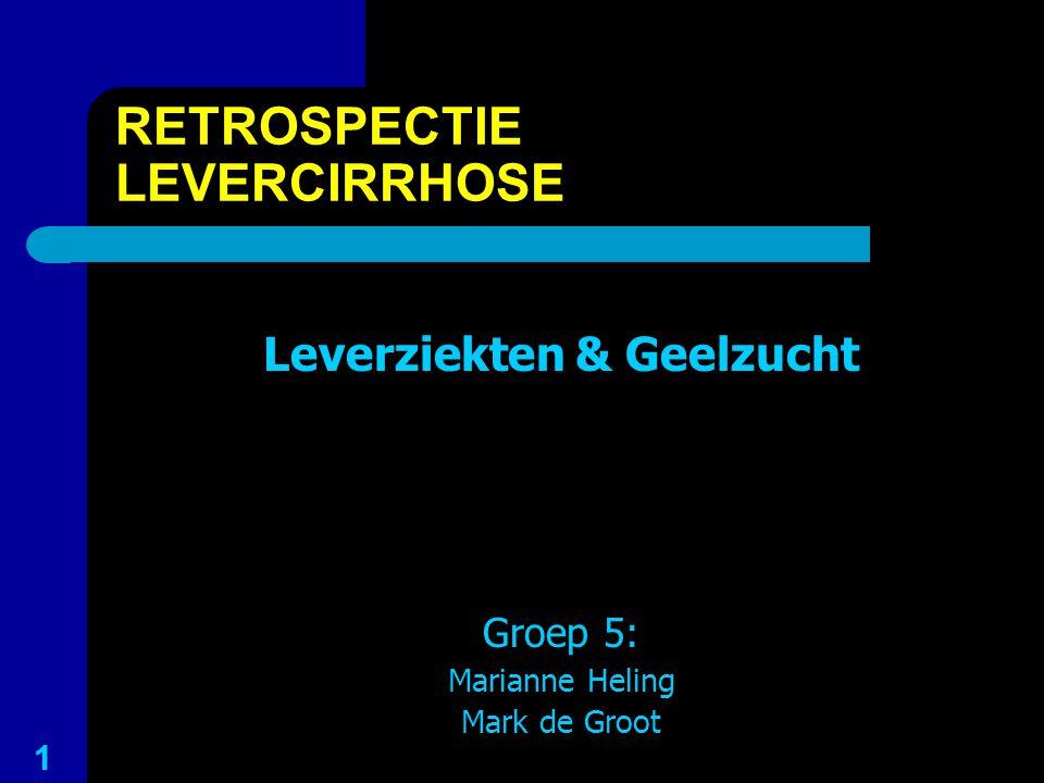 RETROSPECTIE LEVERCIRRHOSE