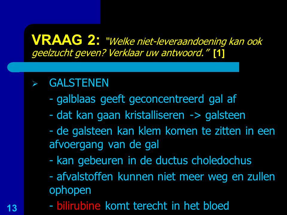 VRAAG 2: Welke niet-leveraandoening kan ook geelzucht geven