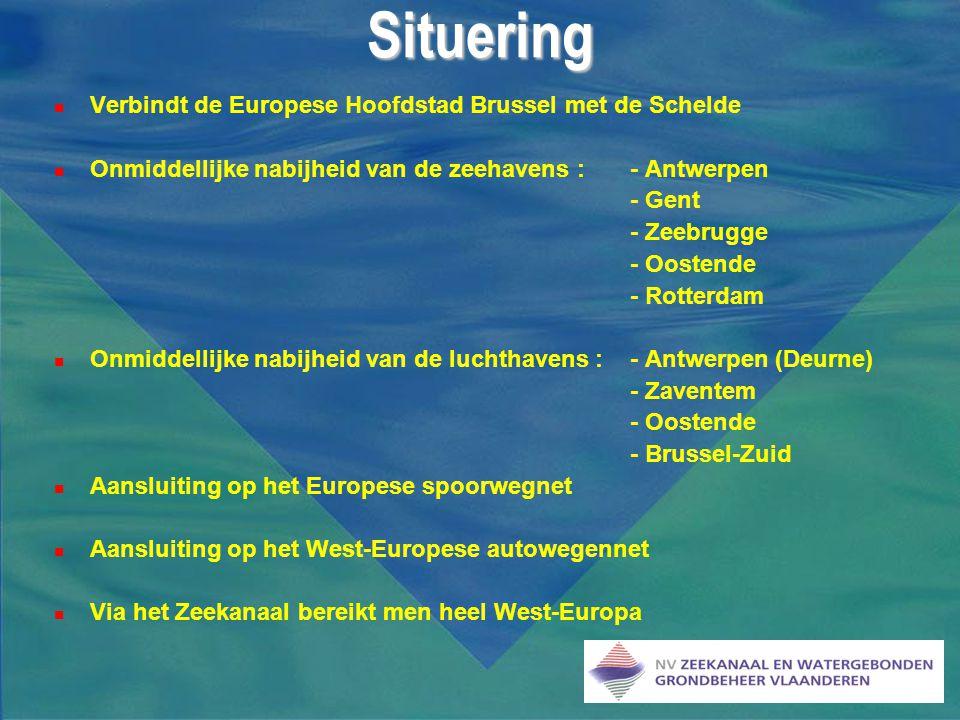 Situering Verbindt de Europese Hoofdstad Brussel met de Schelde