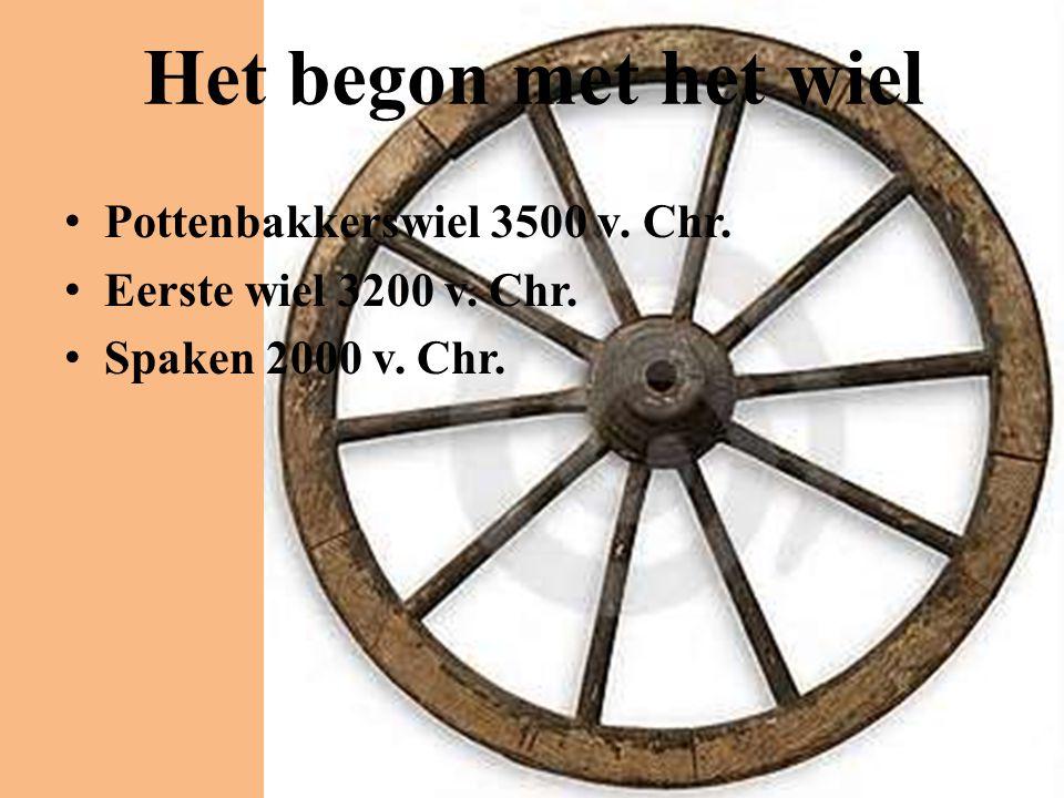 Het begon met het wiel Pottenbakkerswiel 3500 v. Chr.