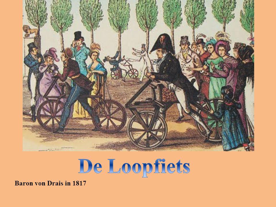 De Loopfiets Baron von Drais in 1817