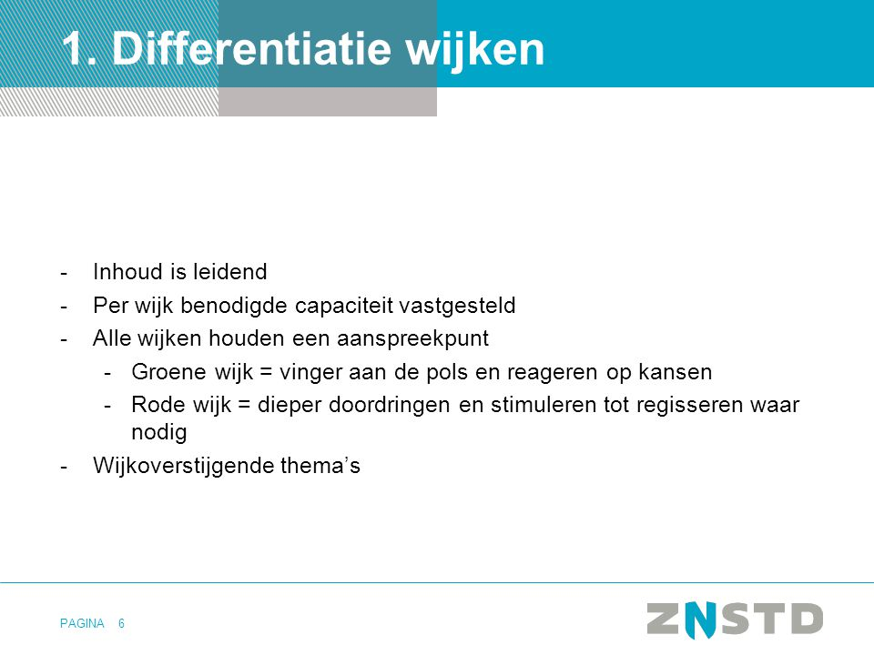 1. Differentiatie wijken