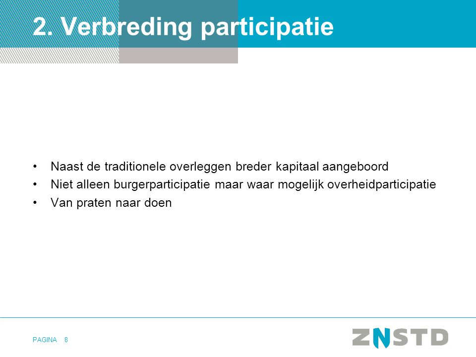 2. Verbreding participatie