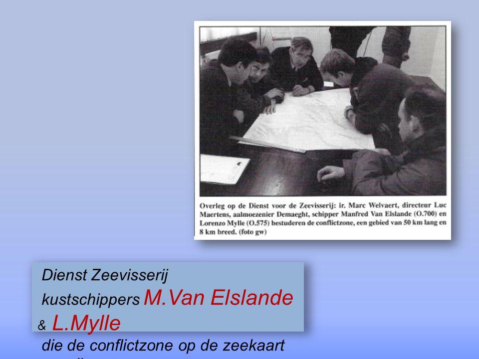 Dienst Zeevisserij kustschippers M.Van Elslande & L.Mylle.