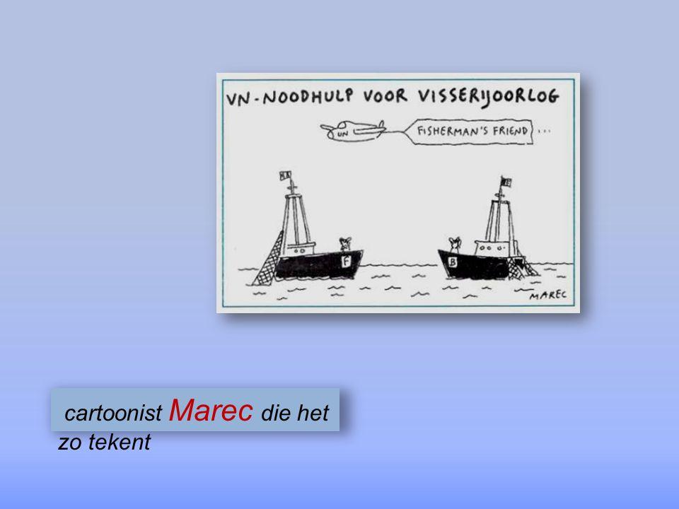 cartoonist Marec die het zo tekent
