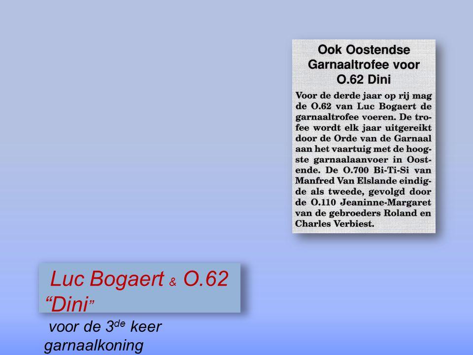 Luc Bogaert & O.62 Dini voor de 3de keer garnaalkoning