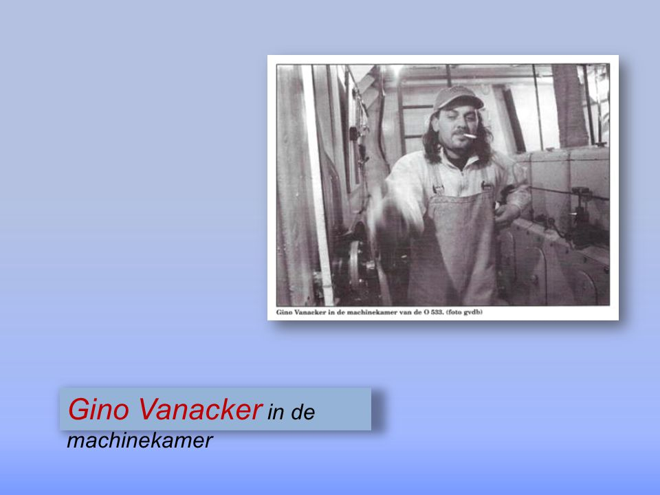 Gino Vanacker in de machinekamer