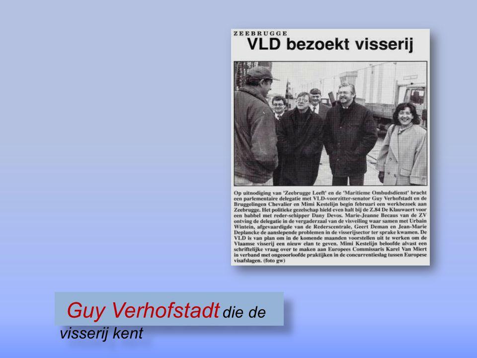 Guy Verhofstadt die de visserij kent