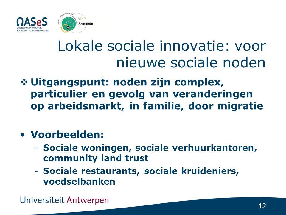 Lokale sociale innovatie: werken aan samenwerking tussen diensten