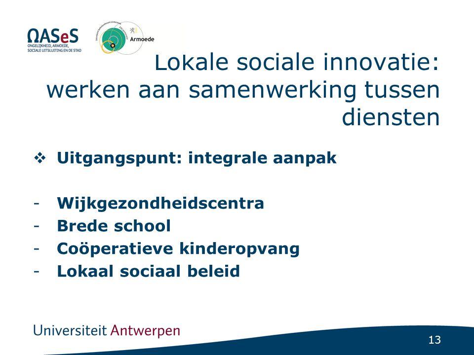 Lokale sociale innovatie: nood aan coördinatie en planning