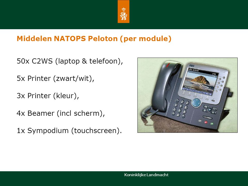 Middelen NATOPS Peloton (per module)