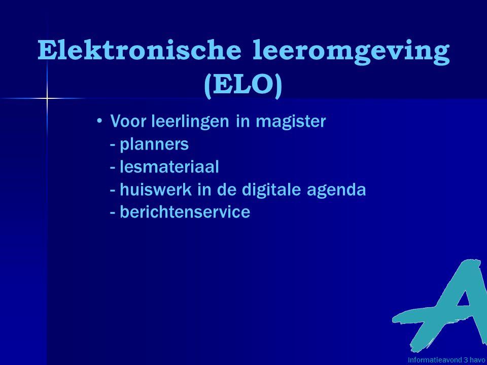 Elektronische leeromgeving (ELO)