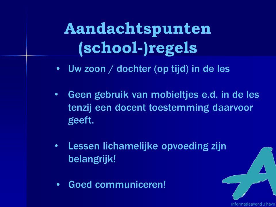 Aandachtspunten (school-)regels