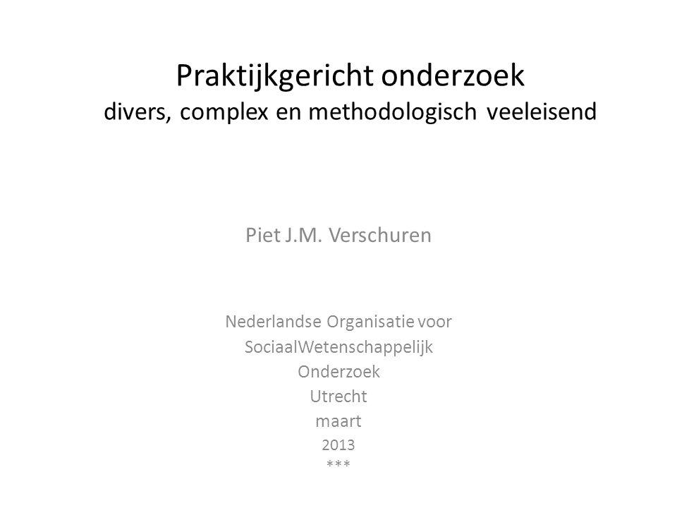 Praktijkgericht onderzoek divers, complex en methodologisch veeleisend
