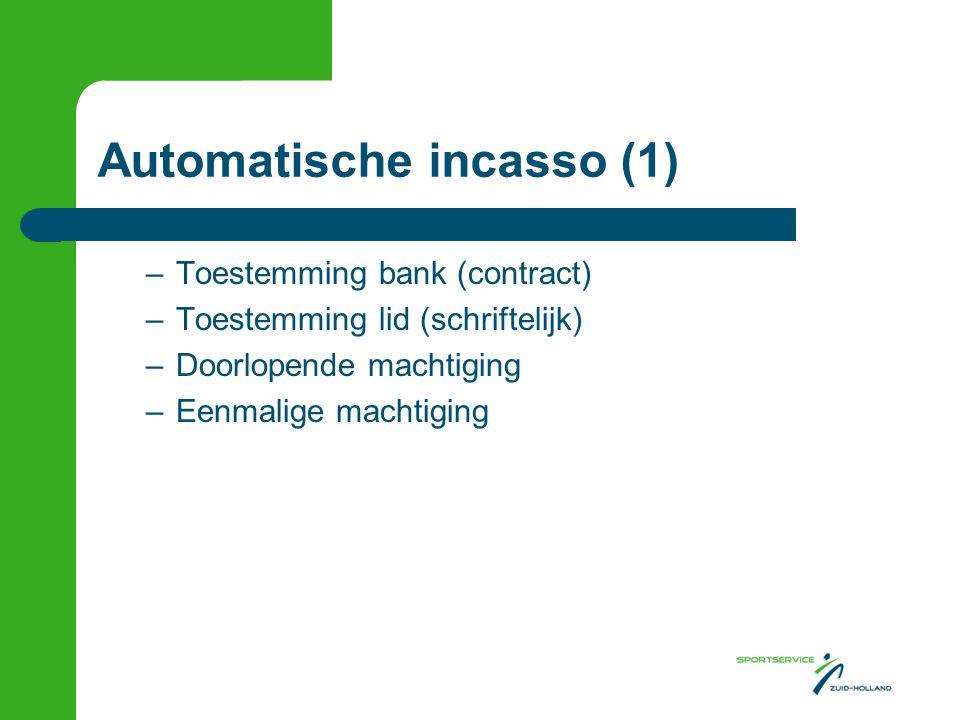 Automatische incasso (1)