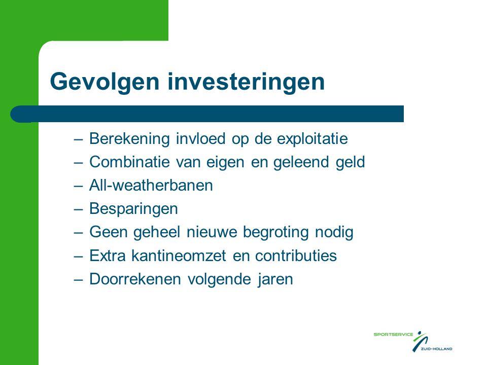 Gevolgen investeringen
