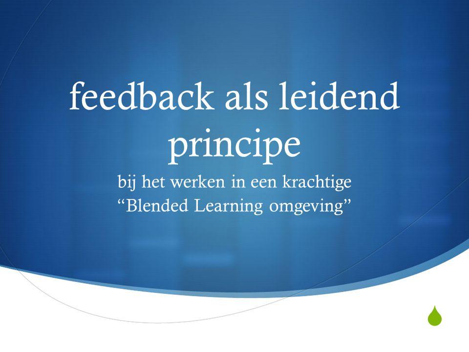 feedback als leidend principe