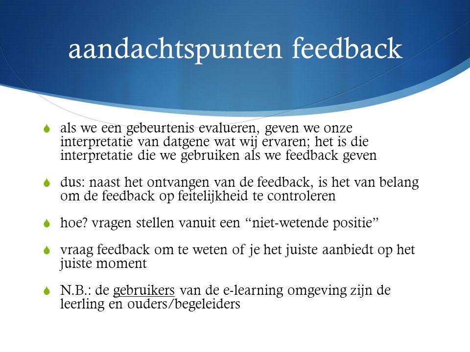 aandachtspunten feedback