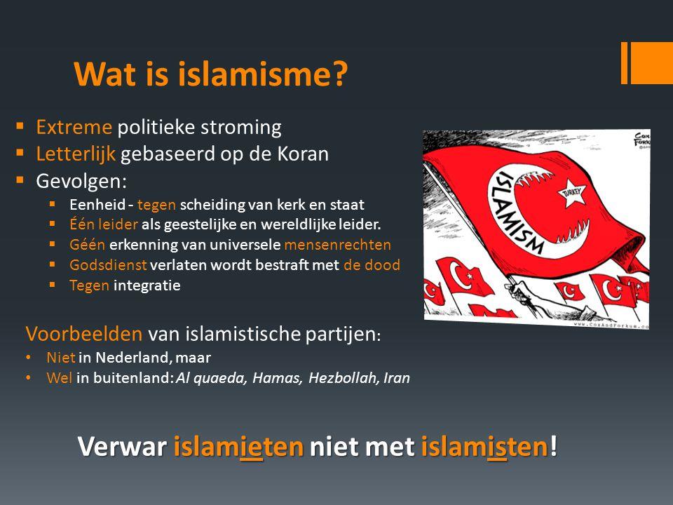 Verwar islamieten niet met islamisten!
