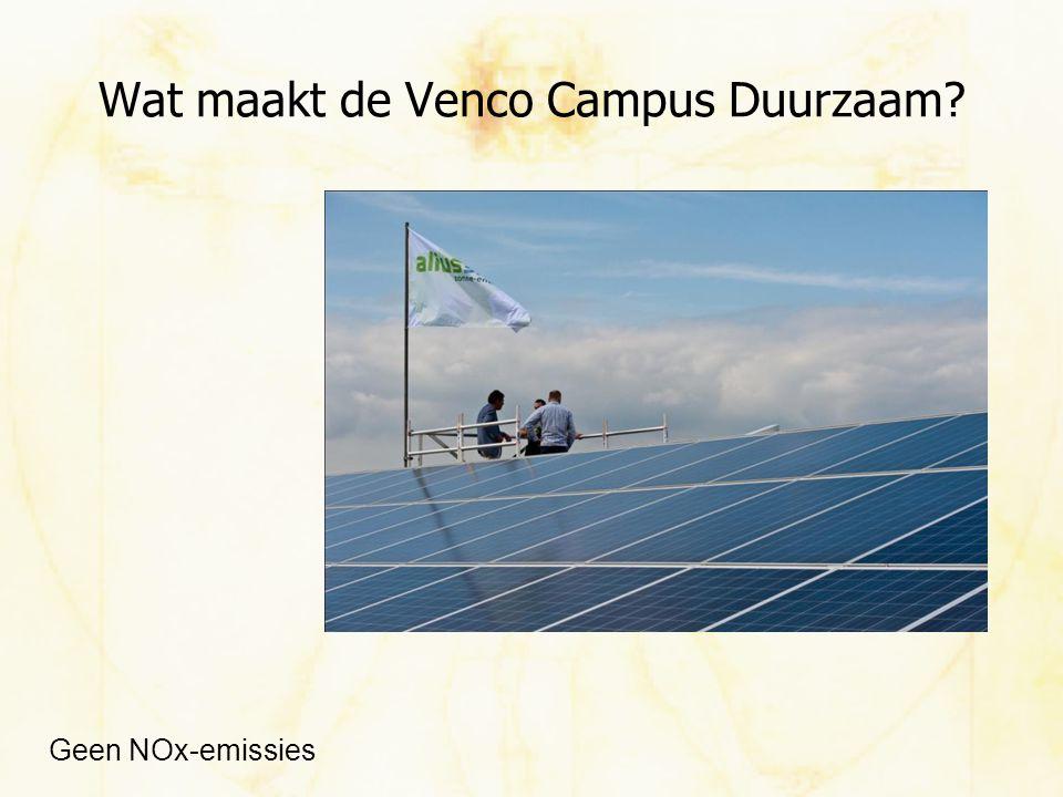 Wat maakt de Venco Campus Duurzaam