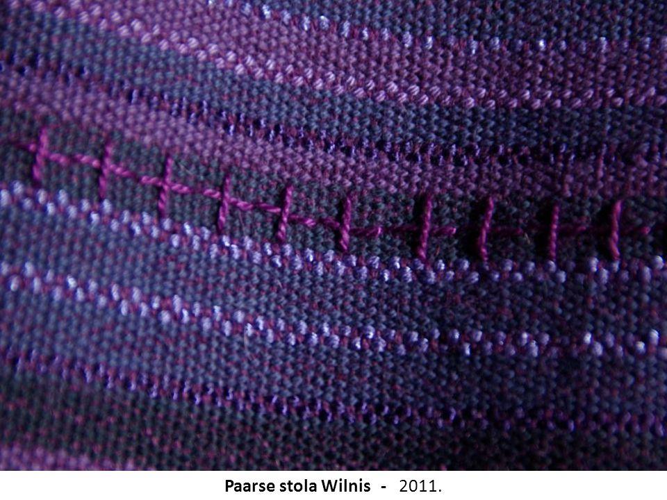 Paarse stola Wilnis - 2011.