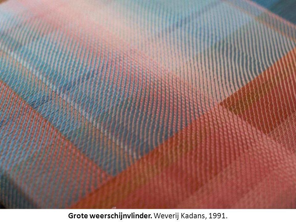 Grote weerschijnvlinder. Weverij Kadans, 1991.