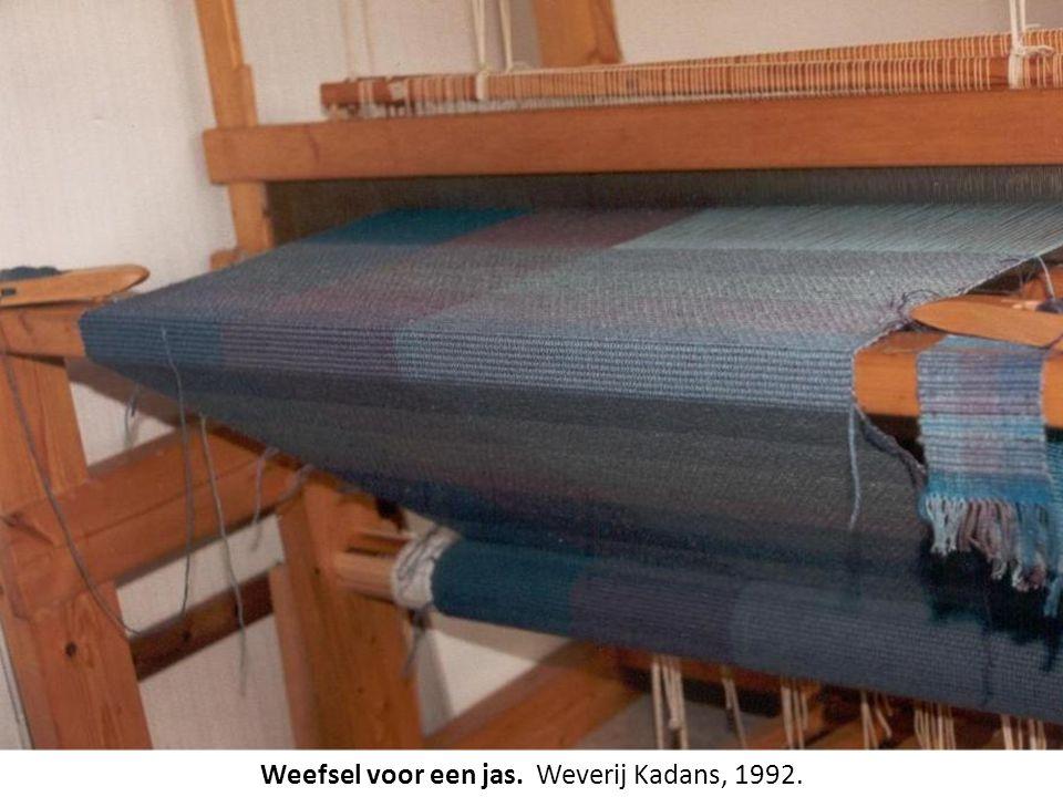 Weefsel voor een jas. Weverij Kadans, 1992.