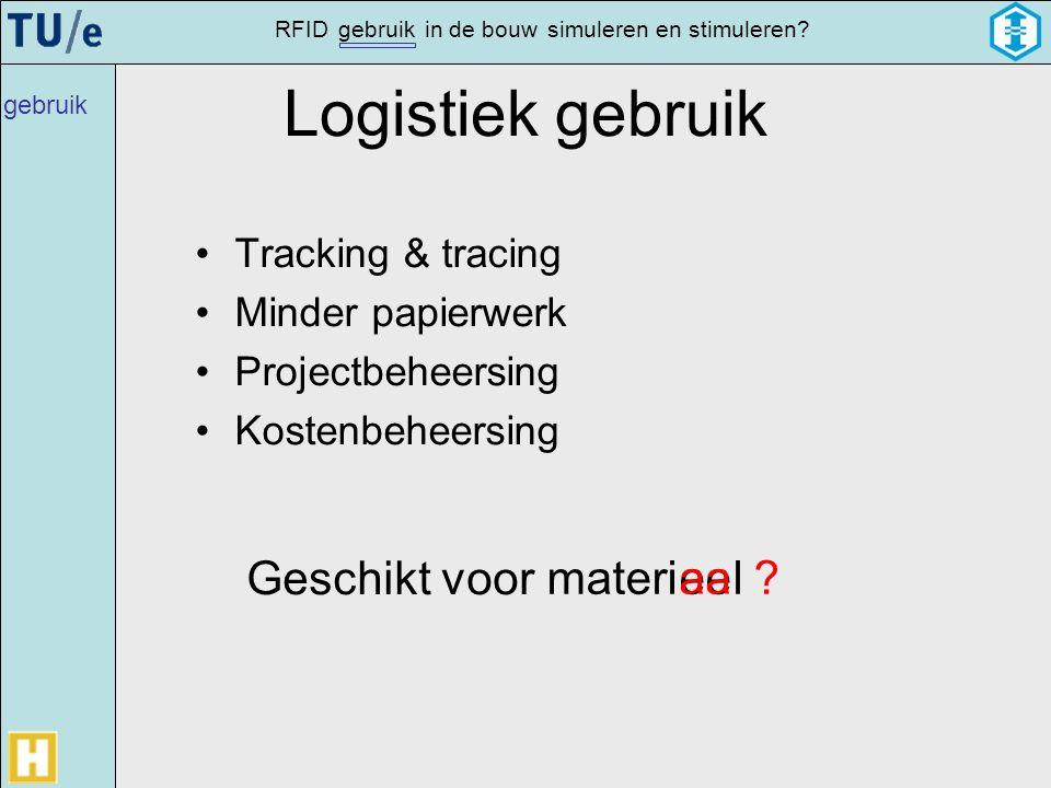 Logistiek gebruik Geschikt voor materi ee aa l Tracking & tracing