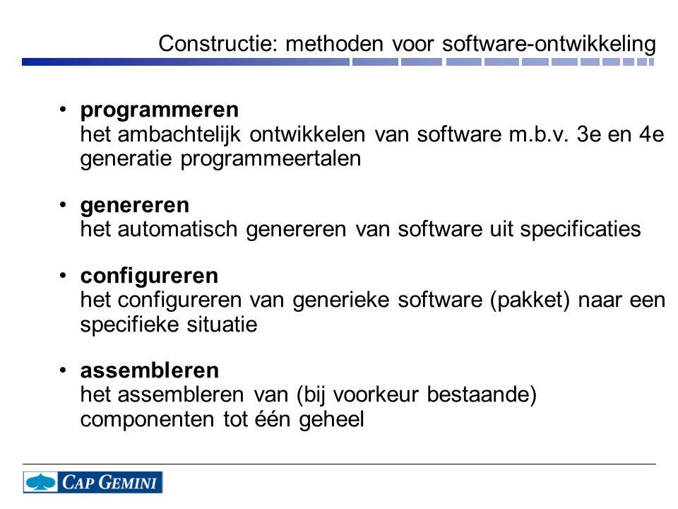 Constructie: methoden voor software-ontwikkeling