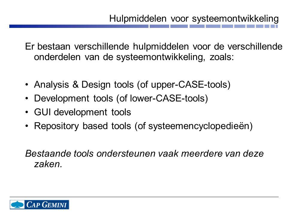 Hulpmiddelen voor systeemontwikkeling