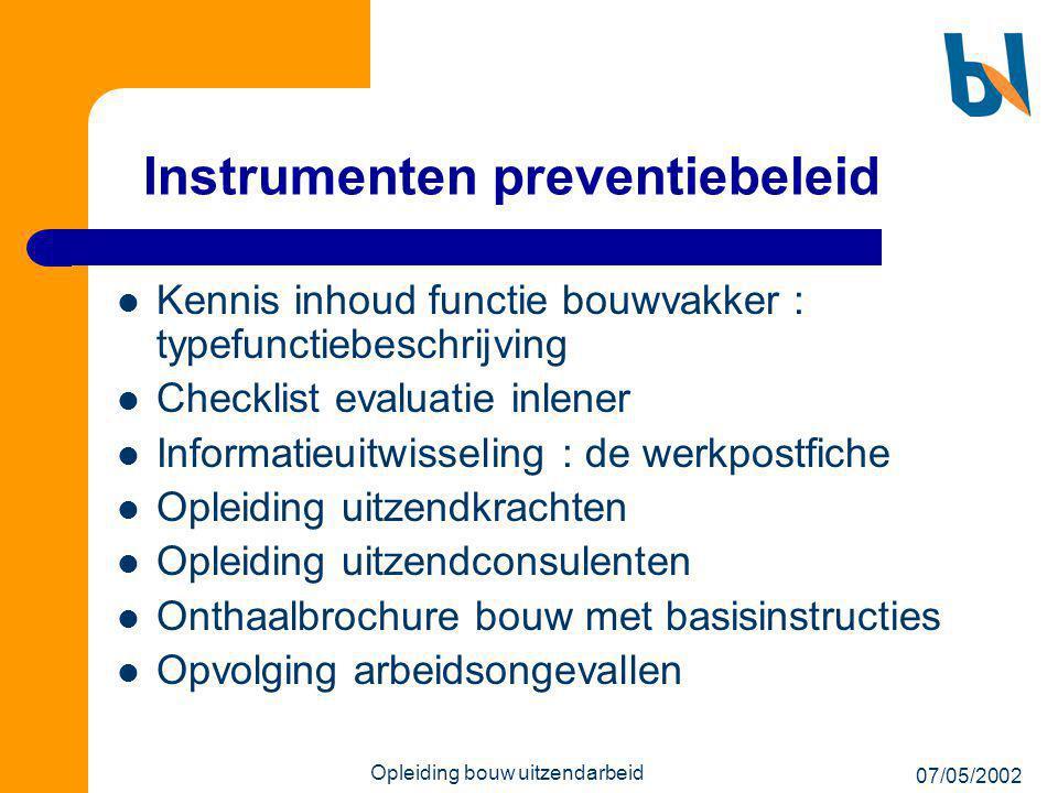 Instrumenten preventiebeleid