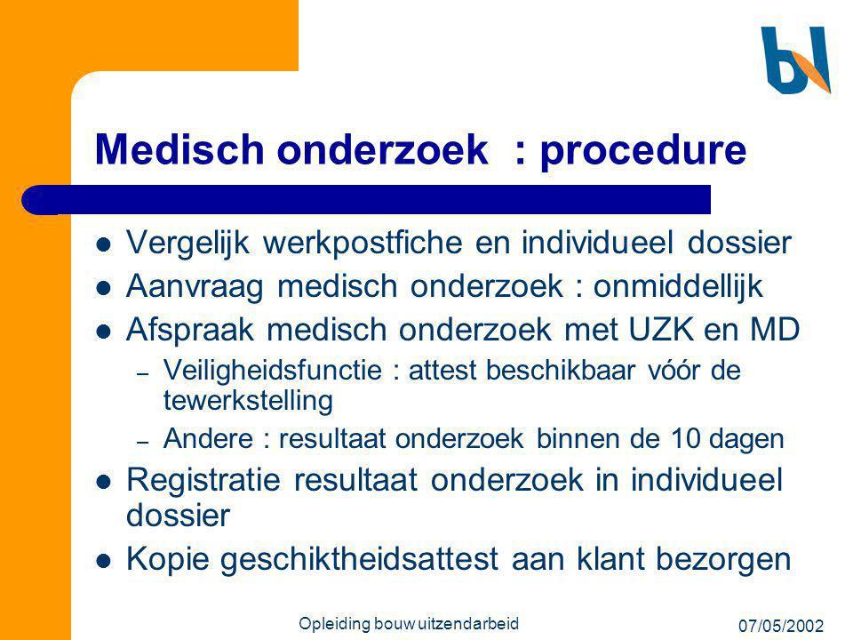 Medisch onderzoek : procedure