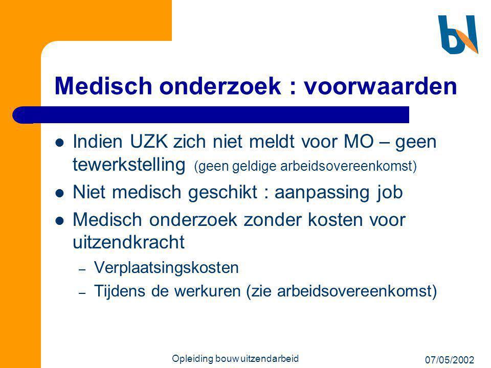 Medisch onderzoek : voorwaarden